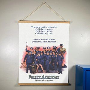 Police Adamemy Canvas Wooden Gold Hanger